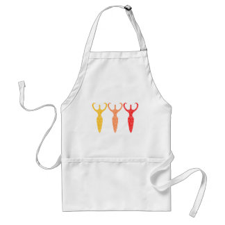 3 Colored Goddesses Aprons