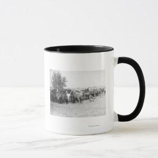 3 Cowboys Roping Horses PhotographSouth Dakota Mug