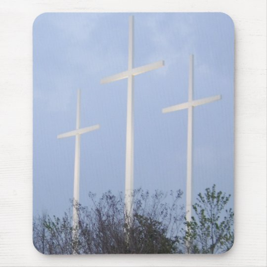 3 crosses mouse mat