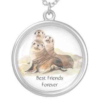 3 Cute Seals, Best Friends Forever, BFF, Pendants