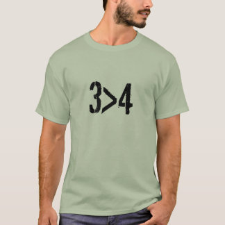 3 cylinder is great than 4 T-Shirt