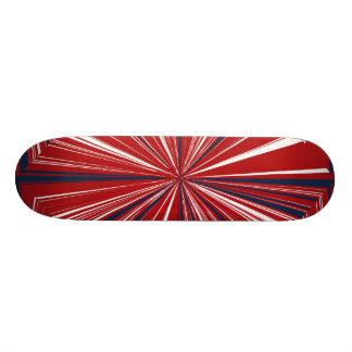 3-D explosion in Patriotic Colors 21.6 Cm Skateboard Deck