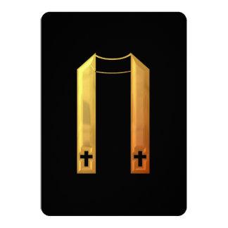 """3-D"" Golden Liturgical Stole Invitation"