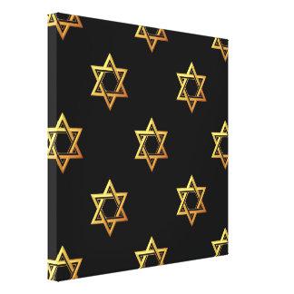 """3-D"" Golden Star of David Gallery Wrap Canvas"