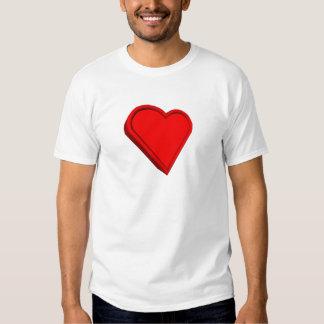3-D Heart Tee Shirt