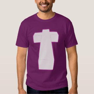 3-D Hip nebula cross T-shirt
