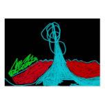 3-D lake geyser Business Card