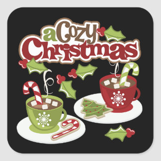 3-D Look Cozy Cocoa Christmas Stickers