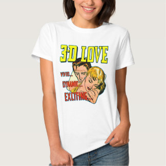 3-D Love Vintage Comic Fashion Tshirts