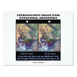 3-D Patagonia, Argentina 11 Cm X 14 Cm Invitation Card