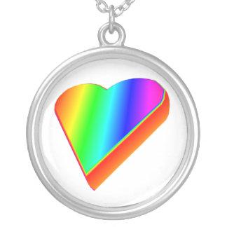 3-D Rainbow Heart Pendant