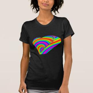 3-D Rainbow Heart T-Shirt