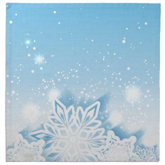 3-D snowflakes Napkin