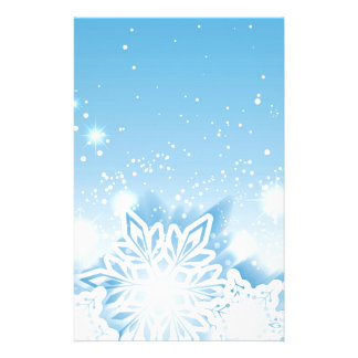 3-D snowflakes Stationery