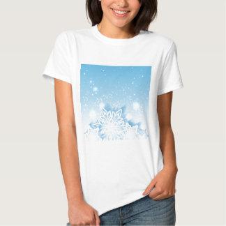3-D snowflakes Tee Shirts