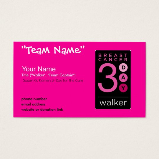 3-Day Business Cards (HOT PINK)