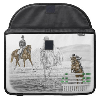 3-Day Eventing Horses Combined Training Sleeve For MacBooks