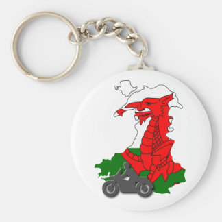 3 Day Tour of Wales - KeyRing Basic Round Button Key Ring