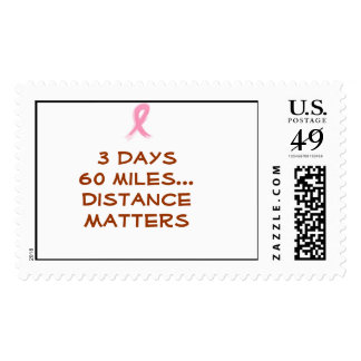3 days60 miles...Distance Matters Stamp