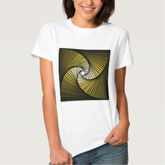 3 dimensional spiral yellow t-shirts
