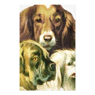 3 Dogs Portrait Stationery