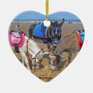 3 Donkeys Christmas Ornament