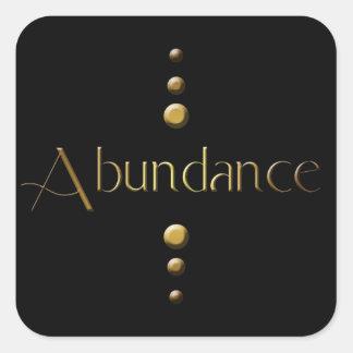 3 Dot Gold Block Abundance & Black Background Square Sticker