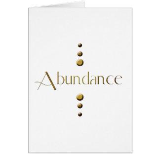 3 Dot Gold Block Abundance Greeting Card
