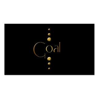 3 Dot Gold Block Goal & Black Background Pack Of Standard Business Cards