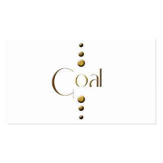 3 Dot Gold Block Goal Pack Of Standard Business Cards