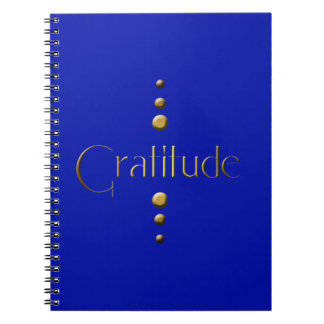 3 Dot Gold Block Gratitude & Blue Background Notebooks