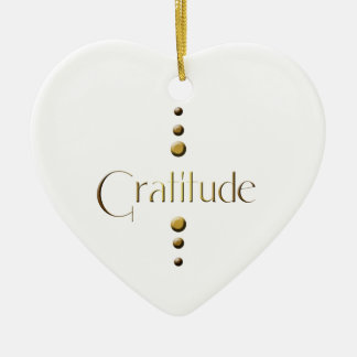 3 Dot Gold Block Gratitude Christmas Ornament