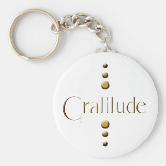 3 Dot Gold Block Gratitude Key Ring