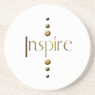 3 Dot Gold Block Inspire Coaster