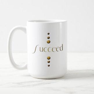 3 Dot Gold Block Succeed Mugs