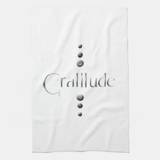 3 Dot Silver Block Gratitude Tea Towel
