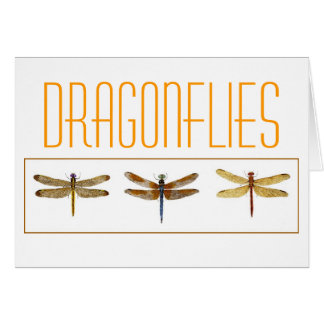 3 Dragonflies. Card