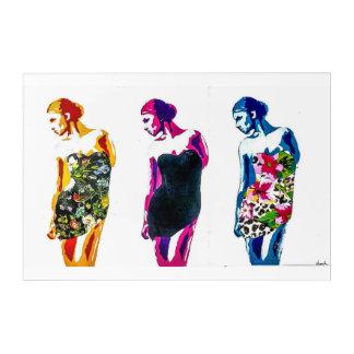 3 Dresses Acrylic Print