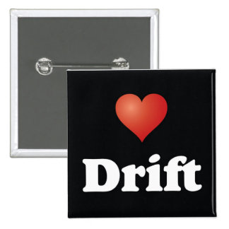 <3 Drift [Button] 15 Cm Square Badge