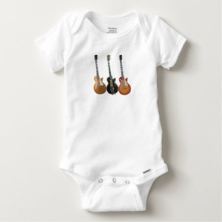 3 ELECTRIC GUITARS BABY ONESIE