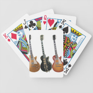 3 ELECTRIC GUITARS BICYCLE PLAYING CARDS