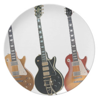 3 ELECTRIC GUITARS PLATE
