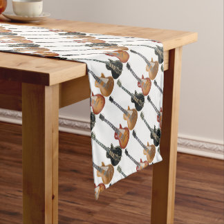 3 ELECTRIC GUITARS SHORT TABLE RUNNER