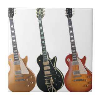 3 ELECTRIC GUITARS SMALL SQUARE TILE
