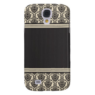3 Elegant Damask Ivory/Black Galaxy S4 Case