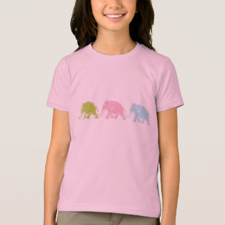 3 Elephants Girls Ringer T-Shirt