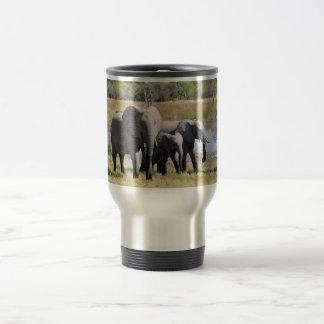 3 elephants stainless steel travel mug