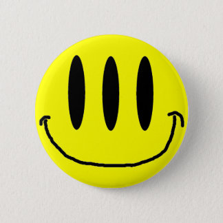 3 Eyed Smiley Face Button