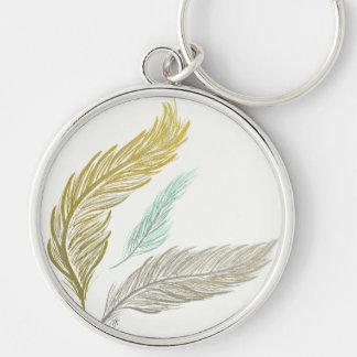 3 Feathers Keychain