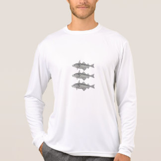 3 fish design T shirt
